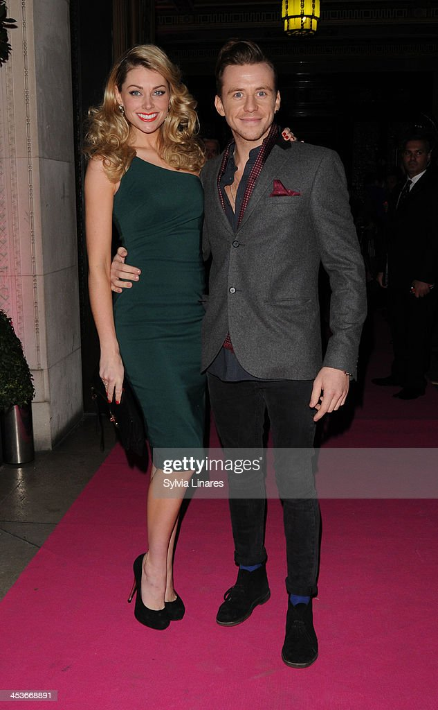 Danny Jones and Georgia Horsley arrive at Freemasons Hall on December 4, 2013 in London, England.