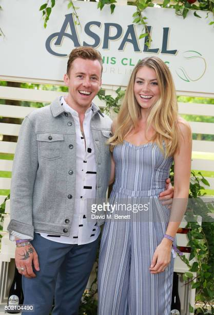 Danny Jones and Georgia Jones attend the Aspall Tennis Classic at The Hurlingham Club on June 27 2017 in London England