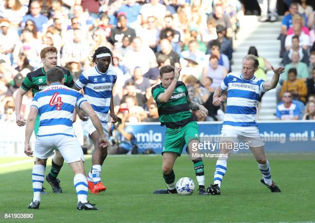 Danny Jones and Iain Glen during the #GAME4GRENFELL at Loftus Road on September 2 2017 in London England The charity football match has been set up...