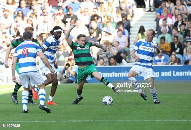 Danny Jones and Ian Glen during the #GAME4GRENFELL at Loftus Road on September 2 2017 in London England The charity football match has been set up to...