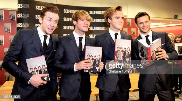 Danny Jones Dougie Poynter Tom Fletcher and Harry Judd of McFly meet fans and sign copies of their book 'Unsaid ThingsOur Story' after they...