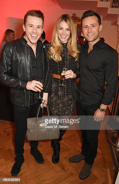 Danny Jones Georgia Horsley and Harry Judd attend 'Above / Beyond' hosted by American Airlines at One Marylebone on September 29 2015 in London...