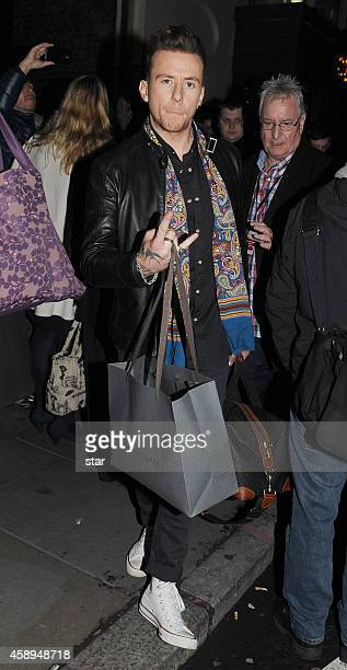 Danny Jones is seen leaving the Royal Variety Performance at the Palladium Theatre on November 13 2014 in London England