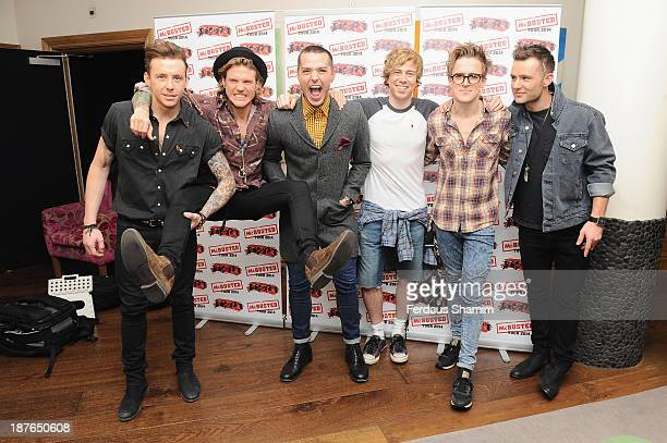 Danny Jones of McFly Dougie Poynter of McFly Matt Willis of Busted James Bourne of Busted Tom Fletcher of McFly and Harry Judd of McFly attend a...