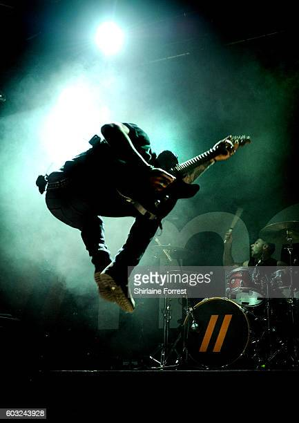 Danny Jones of McFly performs at Manchester Academy on September 12 2016 in Manchester England