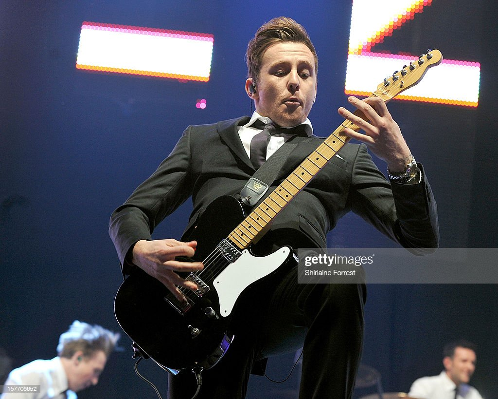 Danny Jones of McFly performs at the Key 103 Jingle Ball at Manchester Arena on December 5, 2012 in Manchester, England.
