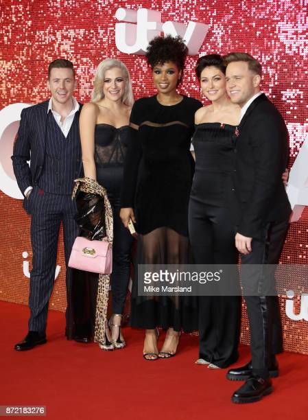 Danny Jones Pixie Lott Jennifer Hudson Emma Willis and Olly Murs arrive at the ITV Gala held at the London Palladium on November 9 2017 in London...