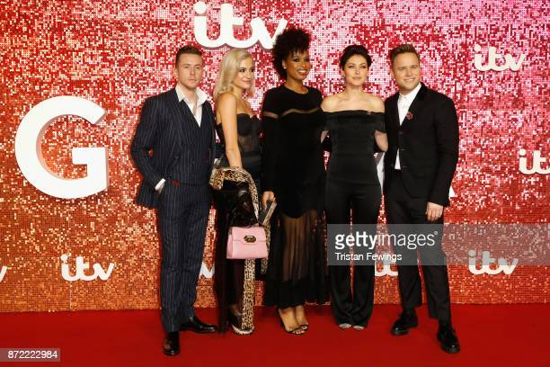 Danny Jones Pixie Lott Jennifer Hudson Emma Willis and Olly Murs arriving at the ITV Gala held at the London Palladium on November 9 2017 in London...