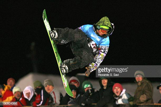 Danny Kass in action during the Snowboard SuperpipeMen Preliminary Final Part One at the 2006 Winter X Games 10 in Aspen Colorado on January 29 2006