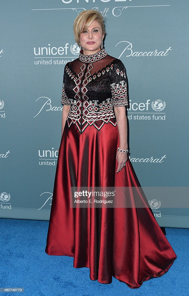 Danny Kaye Humanitarian Leadership Award recipient Ghada Irani arrives to the 2014 UNICEF Ball Presented by Baccarat at the Regent Beverly Wilshire Hotel on January 14, 2014 in Beverly Hills, California.