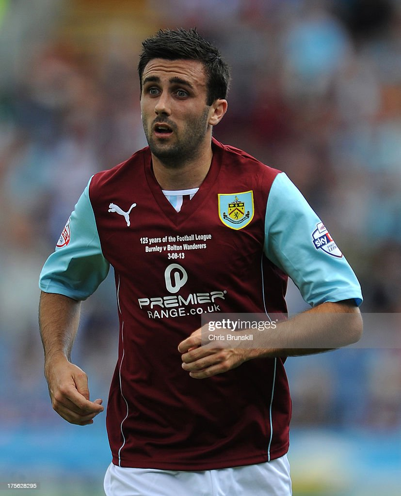 Danny Lafferty of Burnley in action during the Sky Bet Championship match between Burnley and Bolton Wanderers at Turf Moor on August 03, 2013 in Burnley, England.