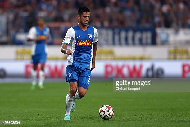 Danny Latza of Bochum runs with the ball during the Second Bundesliga match between VfL Bochum and 1 FC Nuernberg at Rewirpower Stadium on October 3...