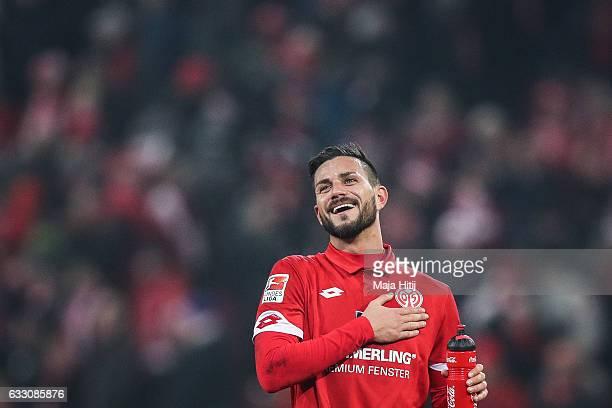 Danny Latza of Mainz looks on after the Bundesliga match between 1 FSV Mainz 05 and Borussia Dortmund at Opel Arena on January 29 2017 in Mainz...