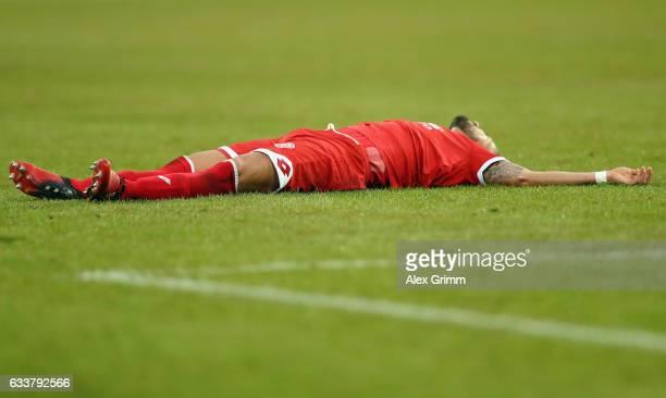 Danny Latza of Mainz reacts during the Bundesliga match between TSG 1899 Hoffenheim and 1 FSV Mainz 05 at Wirsol RheinNeckarArena on February 4 2017...