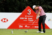 Danny Lee of New Zealand hits a tee shot during the second round of the Brasil Classic Presented by HSBC at the Sao Paulo Golf Club on April 5 2013...