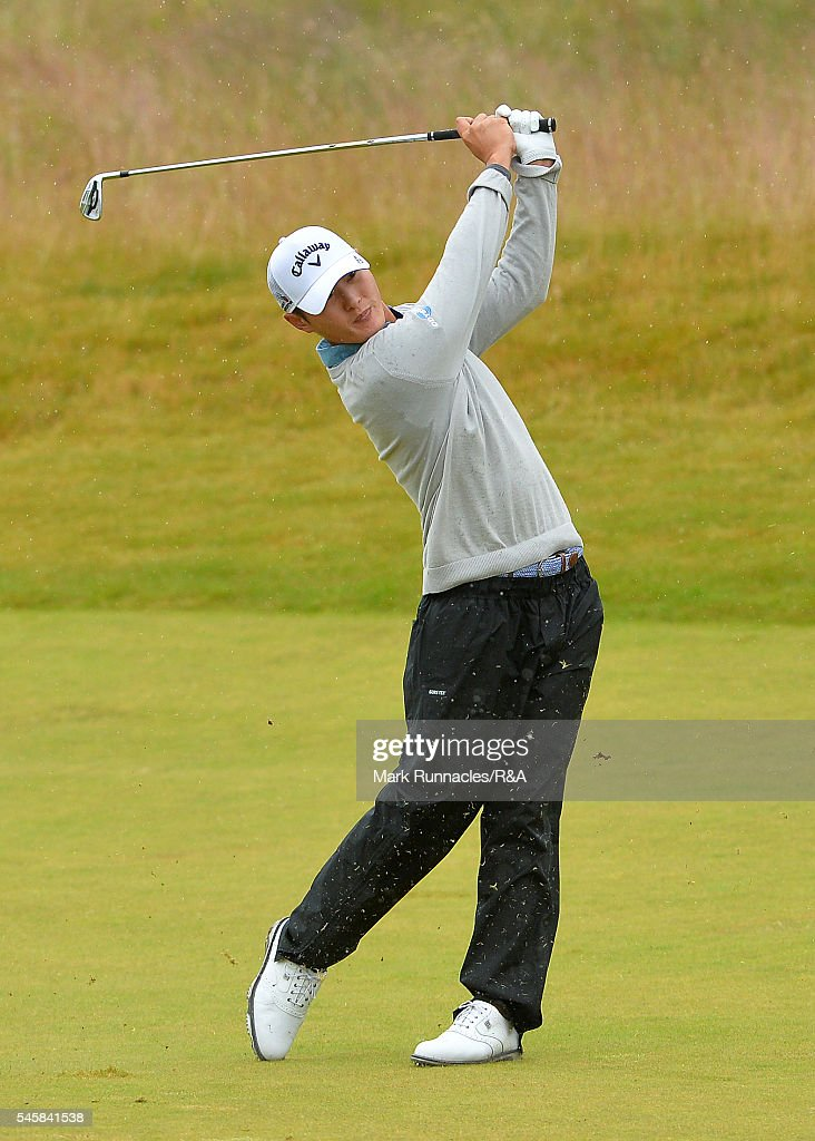 danny lee of new zealand second shot to the 1st hole during the aberdeen asset management - Open Castle 2016
