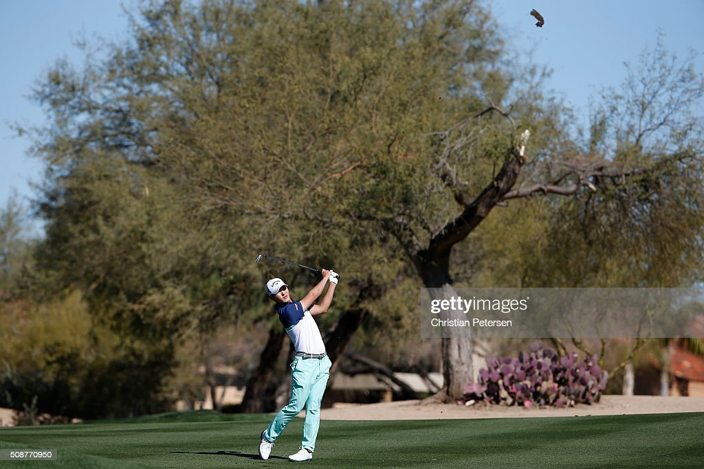 <a gi-track='captionPersonalityLinkClicked' href=/galleries/search?phrase=Danny+Lee+-+Golf&family=editorial&specificpeople=5504075 ng-click='$event.stopPropagation()'>Danny Lee</a> of New Zealand takes his second shot on the second hole during the third round of the Waste Management Phoenix Open at TPC Scottsdale on February 6, 2016 in Scottsdale, Arizona.
