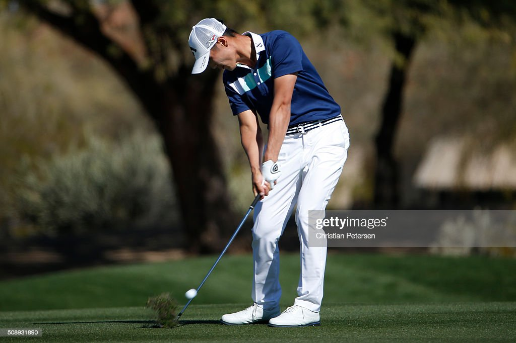 <a gi-track='captionPersonalityLinkClicked' href=/galleries/search?phrase=Danny+Lee+-+Golfer&family=editorial&specificpeople=5504075 ng-click='$event.stopPropagation()'>Danny Lee</a> of New Zealand takes his second shot on the second hole during the final round of the Waste Management Phoenix Open at TPC Scottsdale on February 7, 2016 in Scottsdale, Arizona.