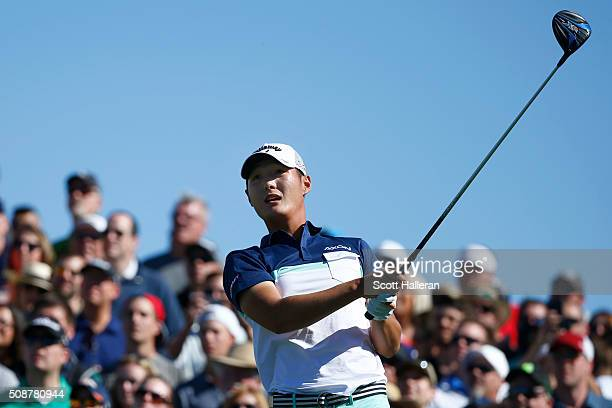 Danny Lee of New Zealand tees off on the 11th hole during the third round of the Waste Management Phoenix Open at TPC Scottsdale on February 6 2016...