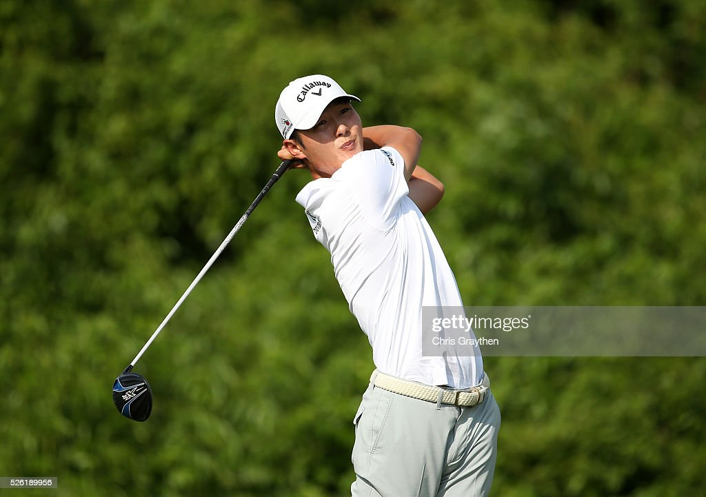 <a gi-track='captionPersonalityLinkClicked' href=/galleries/search?phrase=Danny+Lee+-+Golfer&family=editorial&specificpeople=5504075 ng-click='$event.stopPropagation()'>Danny Lee</a> of New Zealand tees off on the second hole during the second round of the Zurich Classic of New Orleans at TPC Louisiana on April 29, 2016 in Avondale, Louisiana.