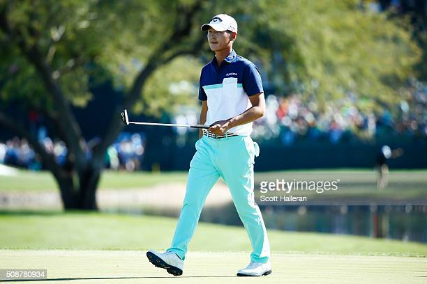 Danny Lee of New Zealand walks off of the 11th hole during the third round of the Waste Management Phoenix Open at TPC Scottsdale on February 6 2016...