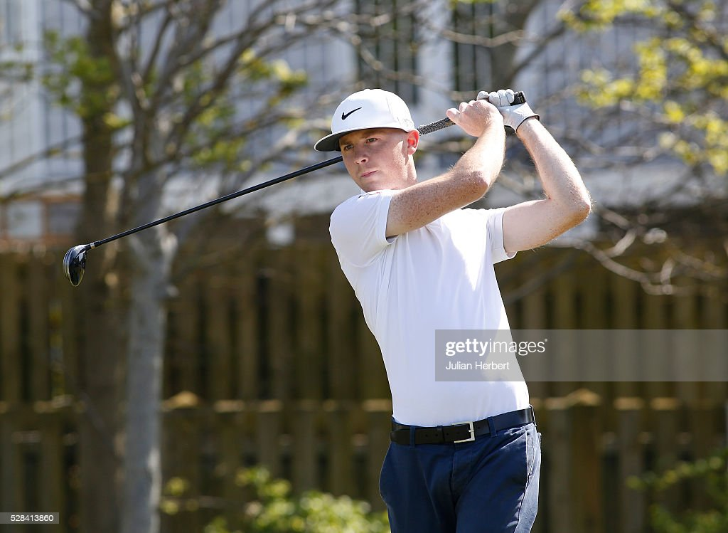 Danny Lee of Rushmore Golf Club plays his first shot on the 1st tee during the PGA Professional Championship - West Qualifier at Burnham And Berrow Golf Club Club on May 5, 2016, in Burnham-On-Sea, England.