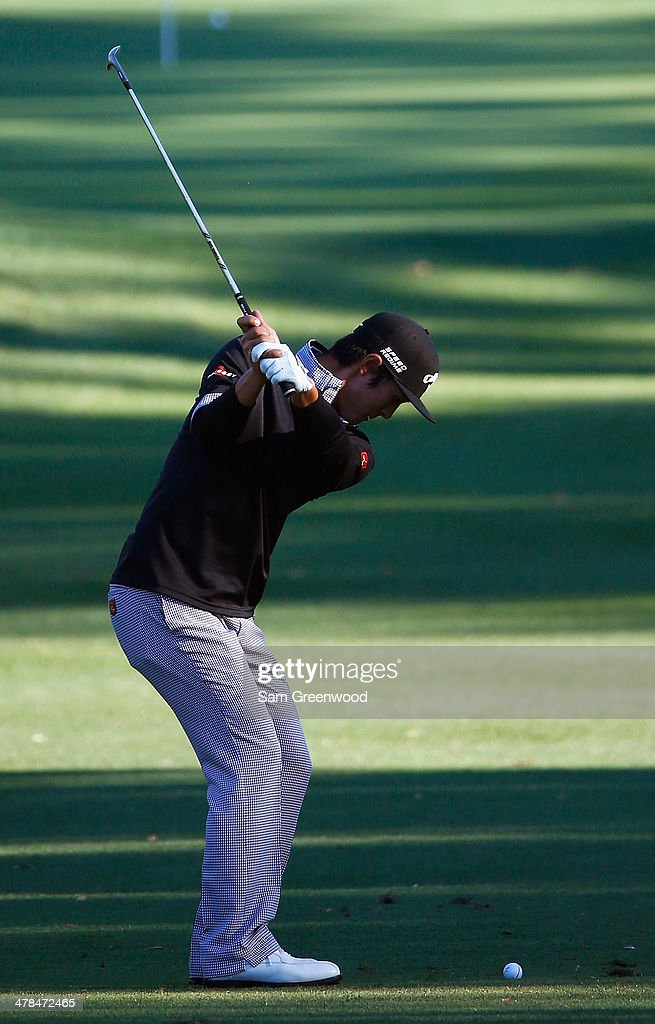 Danny Lee of South Korea hits a shot on the 5th hole during the first round of the Valspar Championship at Innisbrook Resort and Golf Club on March 13, 2014 in Palm Harbor, Florida.