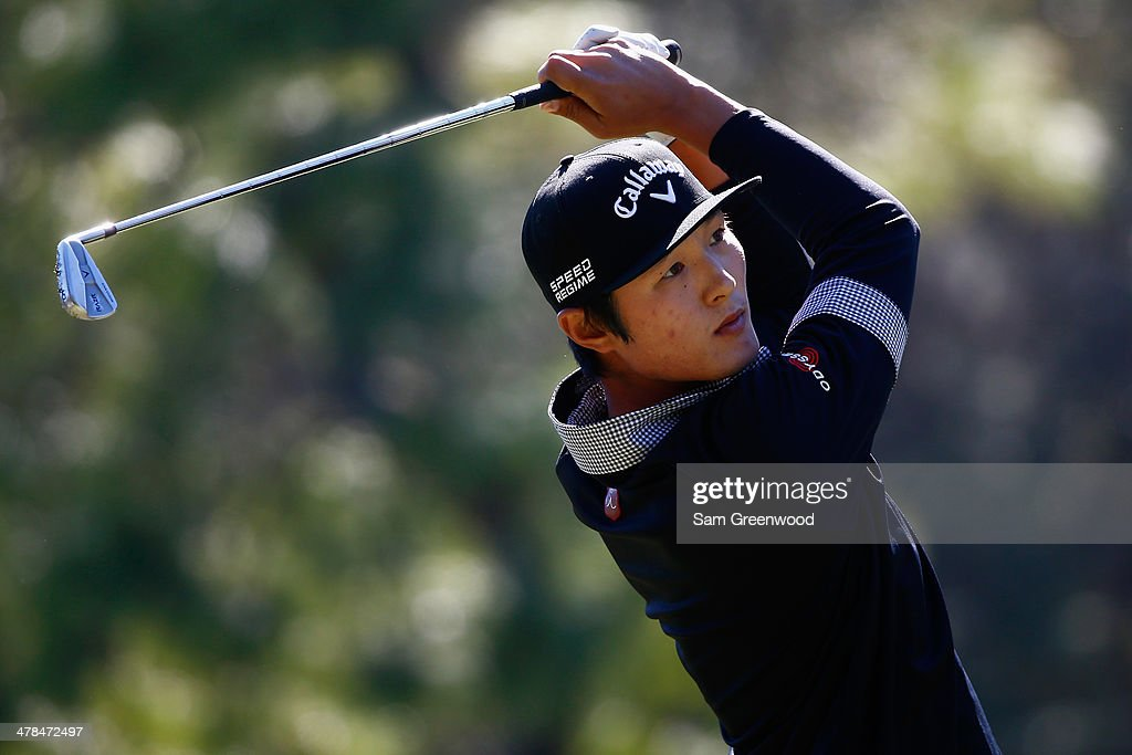 Danny Lee of South Korea hits a tee shot on the 17th hole during the first round of the Valspar Championship at Innisbrook Resort and Golf Club on March 13, 2014 in Palm Harbor, Florida.