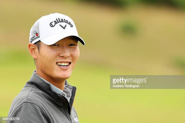 Danny Lee of the United States looks on during a proam round ahead of the AAM Scottish Open at Castle Stuart Golf Links on July 6 2016 in Inverness...