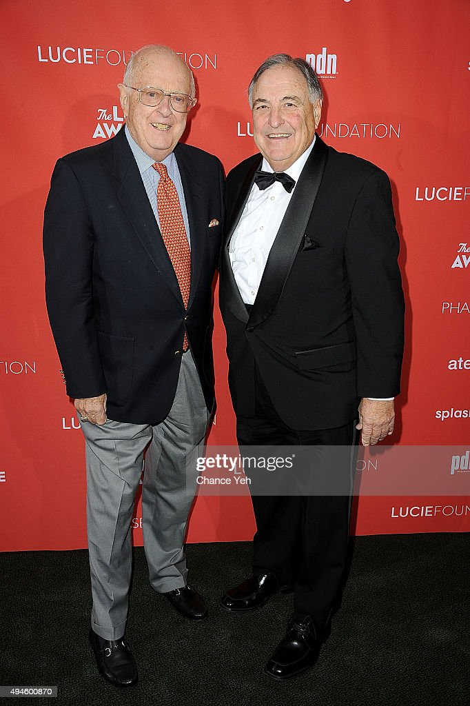 Danny Lyon (L) and Barton Silverman attend 13th Annual Lucie Awards at Zankel Hall, Carnegie Hall on October 27, 2015 in New York City.