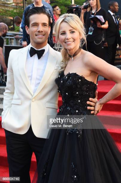 Danny Mac and Carley Stenson attend The Olivier Awards 2017 at Royal Albert Hall on April 9 2017 in London England