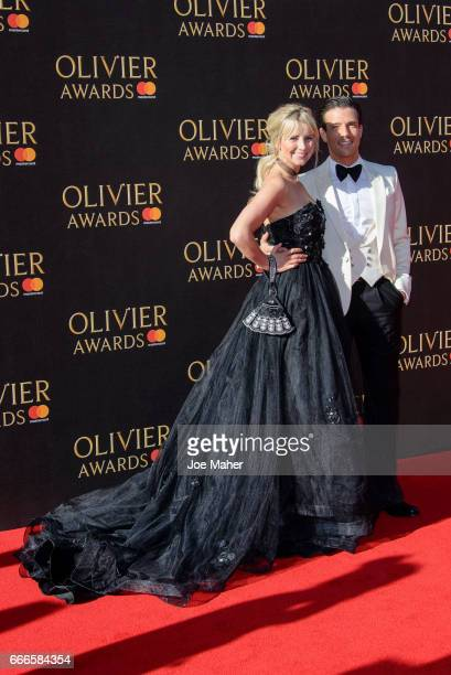 Danny Mac and Carley Stenson attends The Olivier Awards 2017 at Royal Albert Hall on April 9 2017 in London England