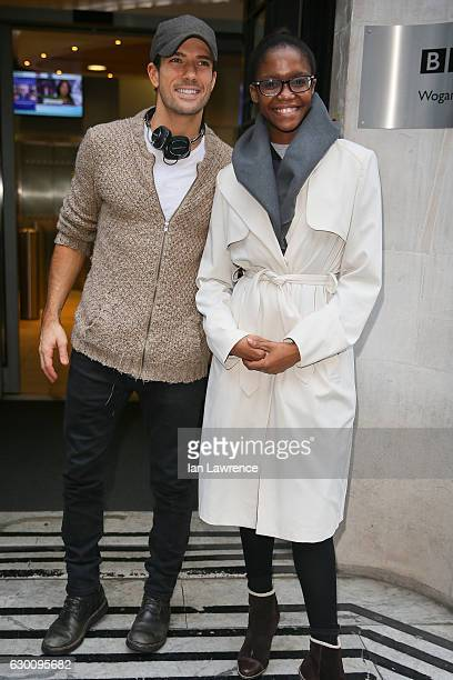 Danny Mac and Oti Mabuse seen at BBC Radio 2 ahead of tomorrow's Strictly Come Dancing Final on December 16 2016 in London England