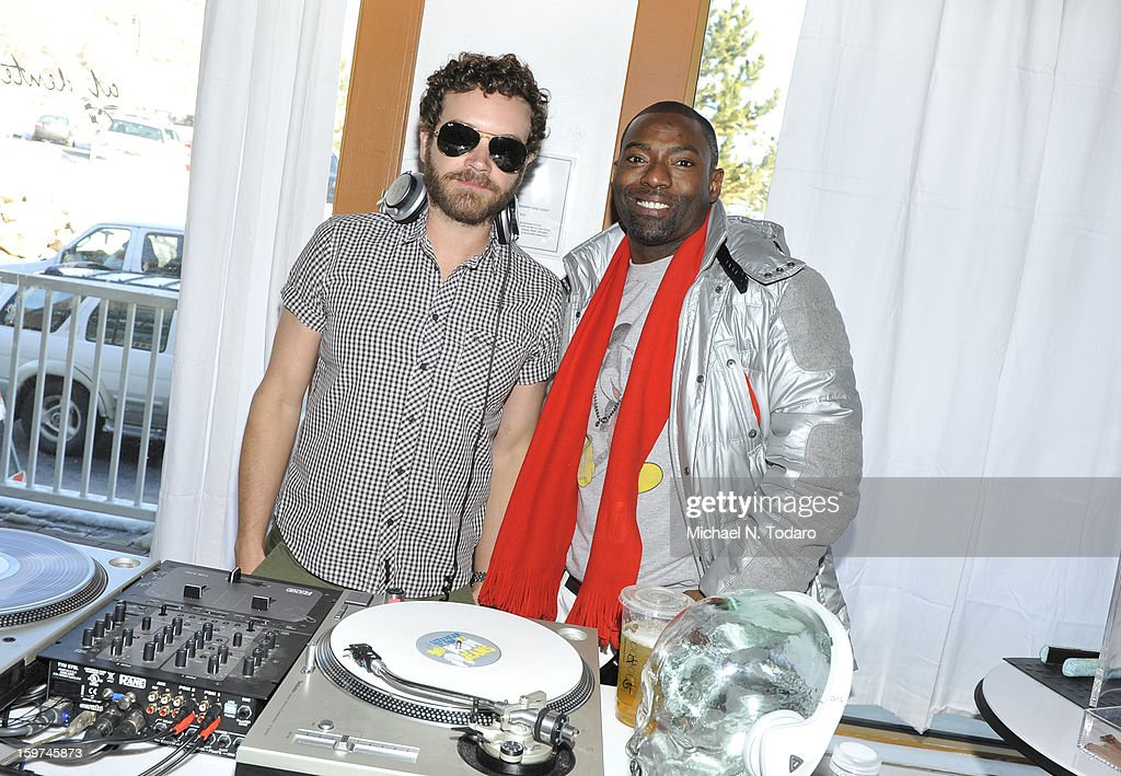 Danny Masterson and Hassan Johnson attend the TR Suites Daytime Lounge - Day 2 on January 19, 2013 in Park City, Utah.