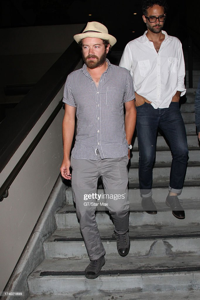 Danny Masterson is seen on July 18, 2013 in Los Angeles, California.