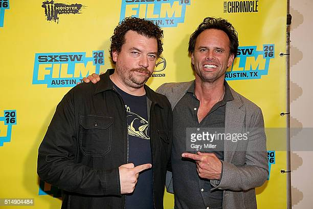 Danny McBride and Walton Goggins attend the premeire of HBO's Vice Principals at the Stephen F Austin Hotel during South By Southwest Film Festival...