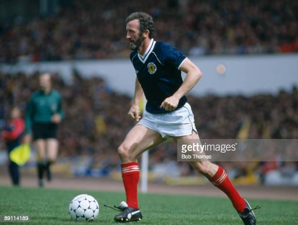 Danny McGrain in action for Scotland during the British Championship match against England at Hampden Park 29th May 1982