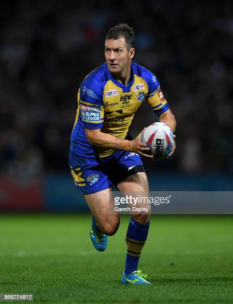 Danny McGuire of Leeds during the Betfred Super League semi final between Leeds Rhinos and Hull FC at Headingley on September 29 2017 in Leeds England