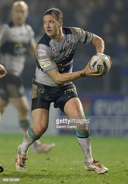 Danny McGuire of Leeds Rhinos in action during the First Utility Super League match between Warrington Wolves and Leeds Rhinos at The Halliwell Jones...