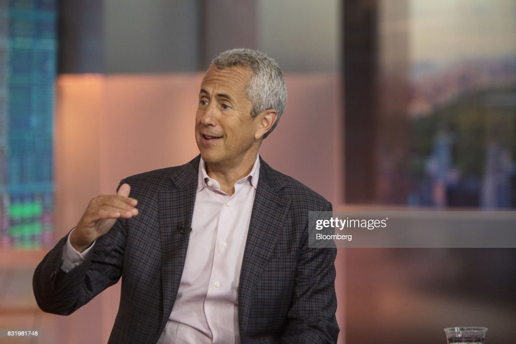 Danny Meyer, founder and chief executive officer of the Union Square Hospitality Group LLC, speaks during a Bloomberg Television interview in New York, U.S., on Tuesday, Aug. 15, 2017. Meyer discussed the hiring challenges in restaurants and his 'employees first' philosophy. Photographer: Victor J. Blue/Bloomberg via Getty Images