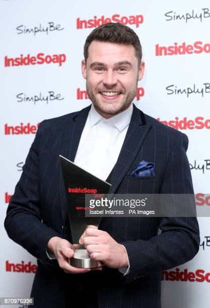 Danny Miller after winning the Best Actor Award at the Inside Soap Awards 2017 held at The Hippodrome Casino in London