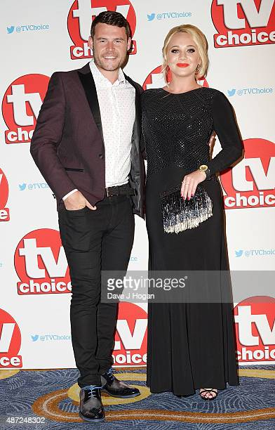 Danny Miller and Kirsty Leigh Porter attend the TV Choice Awards 2015 at Hilton Park Lane on September 7 2015 in London England