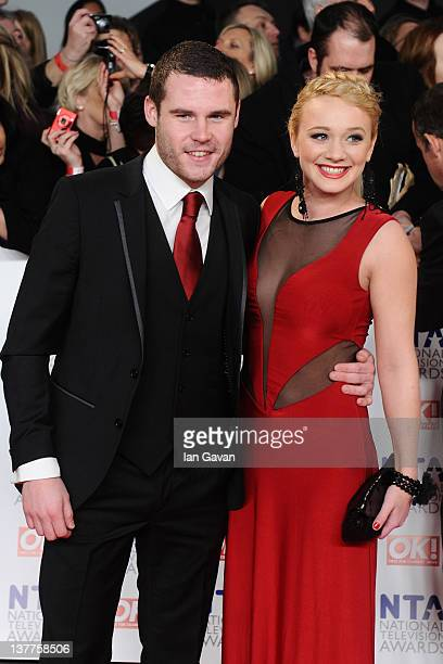 Danny Miller and KirstyLeigh Porter attend the National Television Awards 2012 at the 02 Arena on January 25 2012 in London England