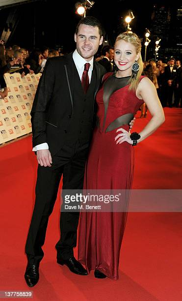 Danny Miller and KirstyLeigh Porter attend the National Television Awards 2012 at the O2 Arena on January 25 2012 in London England