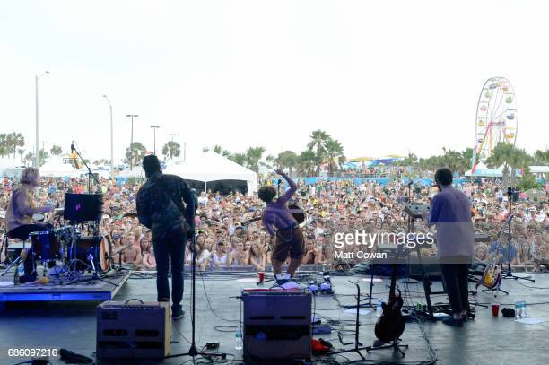 Danny Miller and Max Harwood of Lewis Del Mar perform at the during 2017 Hangout Music Festival on May 20 2017 in Gulf Shores Alabama