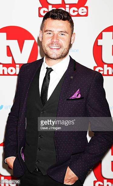 Danny Miller arrives for the TVChoice Awards at The Dorchester on September 5 2016 in London England