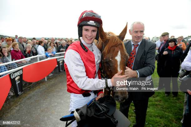 Danny Mullins celebrates winning the Guinness Kerry National Handicap Chase on Faltering Fullback at Listowel Racecourse