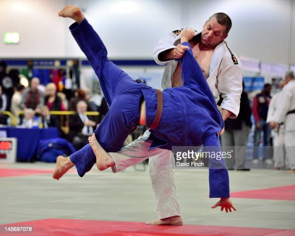 Danny Murphy of the Budokwai Judo Club threw Rene Wolter also of the Budokwai with a spectacular foot sweep for ippon during the mens Open category...