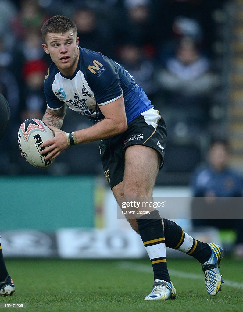 Danny Nicklas of Hull FC in action during a pre-season friendly match between Hull FC and Castleford Tigers at The KC Stadium on January 13, 2013 in Hull, England.