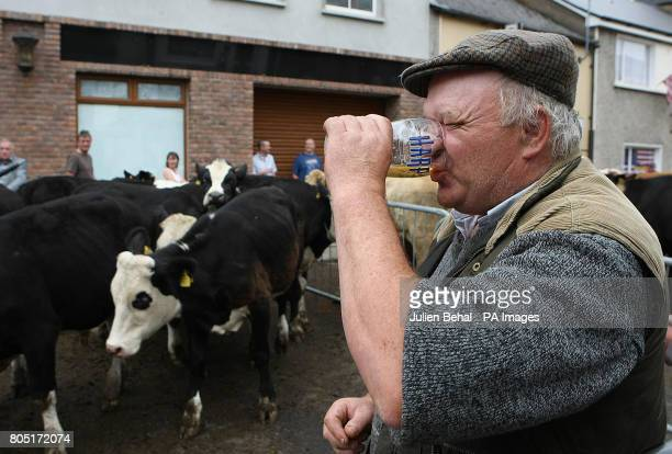 Danny O'Callaghan from Killorglin enjoys a pint at the Cattle Fair Day taking place on Langford Street in Killorglin CoKerry at the Annual Puck Fair...